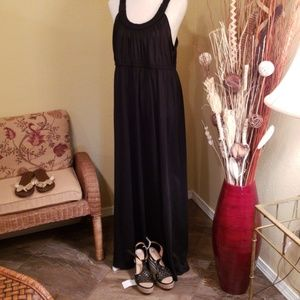 Black Maxi Dress with Braided Straps